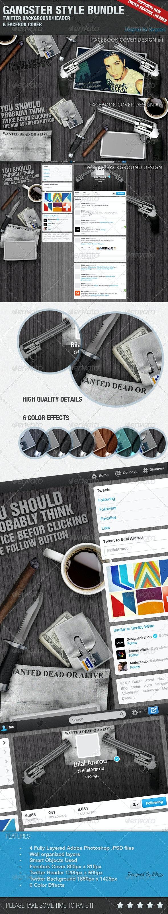 Gangster Style Bundle  - Facebook Timeline Covers Social Media
