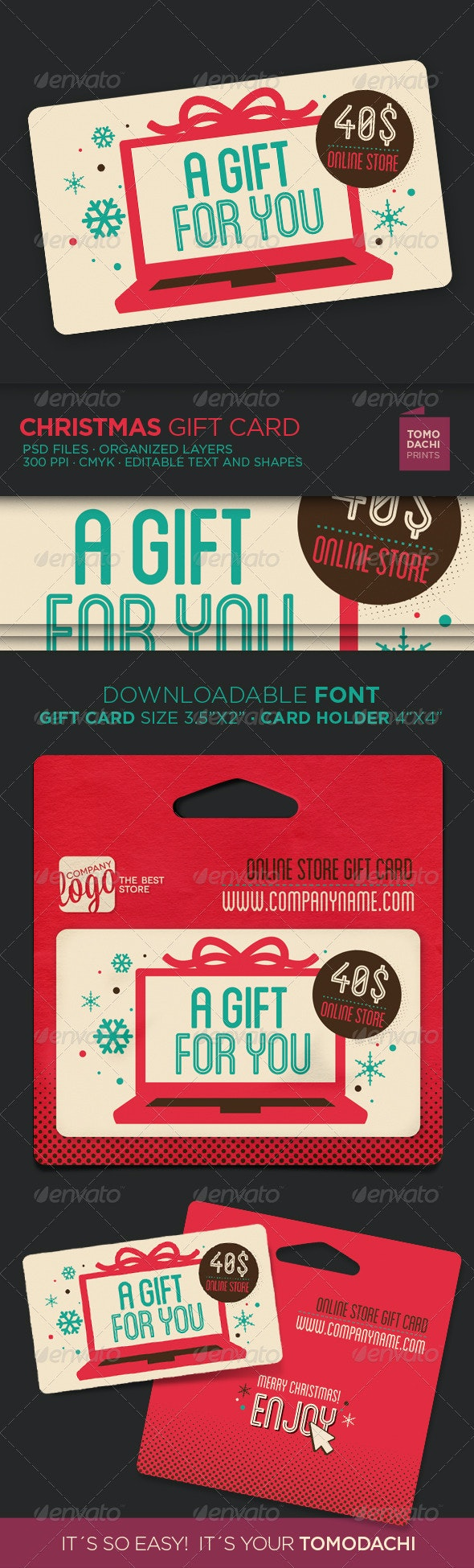 GIFT CARD xmas online store - Loyalty Cards Cards & Invites