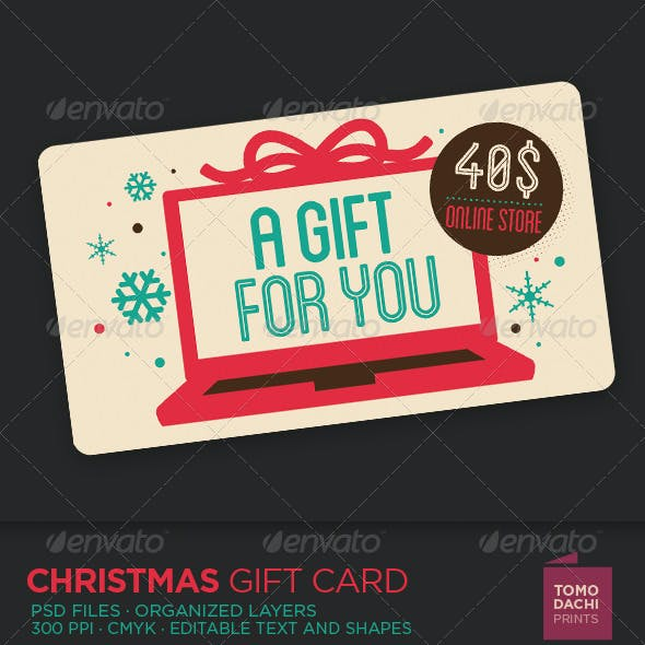 GIFT CARD xmas online store
