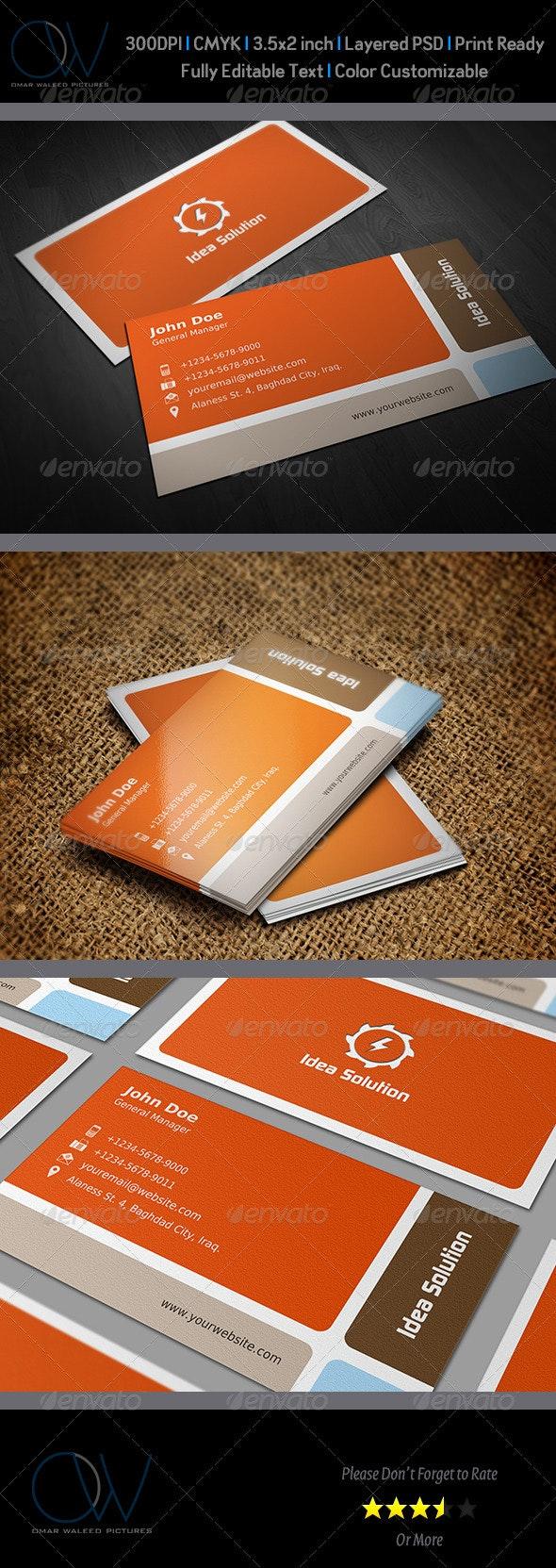 Corporate Business Card Vol.7 - Corporate Business Cards