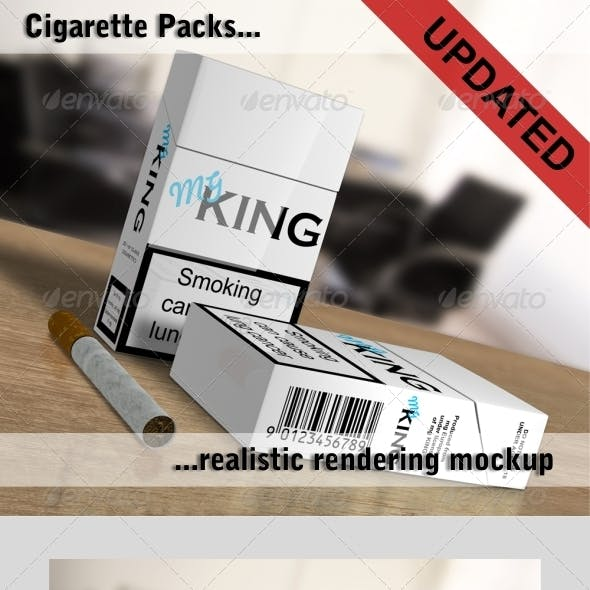 Cigarette Packs Mockup