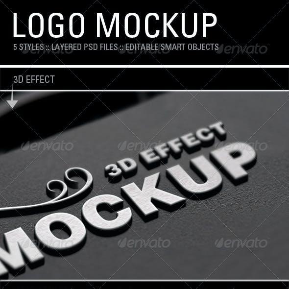 Logo Mockups Set 5 Styles