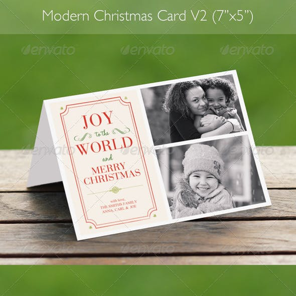 Modern Christmas Card V2