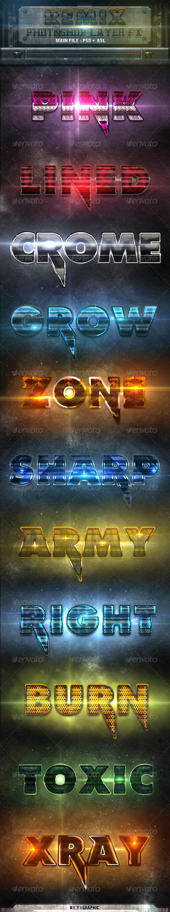 Remix Photoshop Styles FX - Text Effects Styles