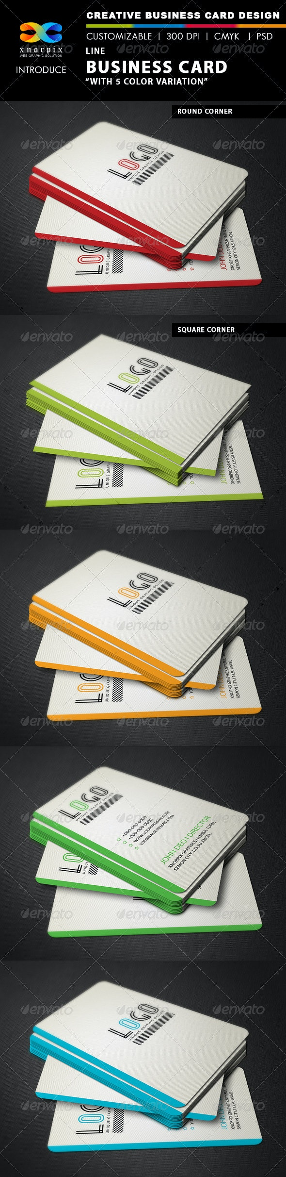 Line Business Card - Corporate Business Cards