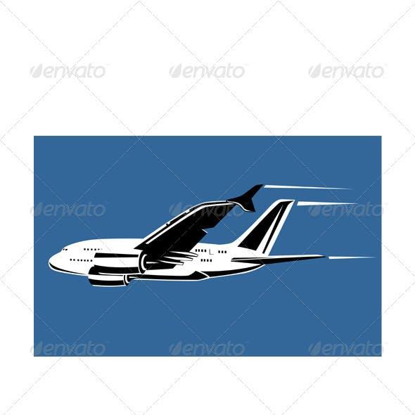 Commercial Jet Plane Airline Ret