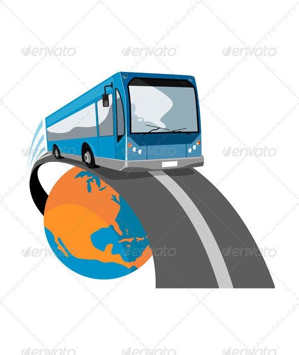 Shuttle Coach Bus Retro  - Travel Conceptual