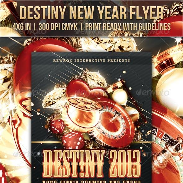 Destiny New Year Flyer