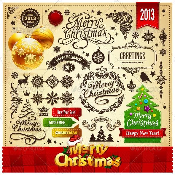 Christmas Elements Set - Christmas Seasons/Holidays