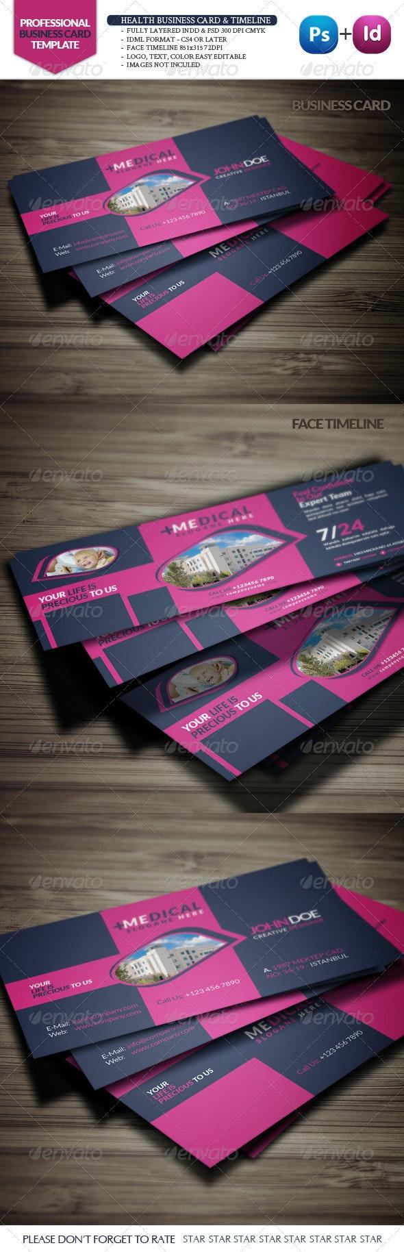 Health Business Card & Face Timeline - Creative Business Cards