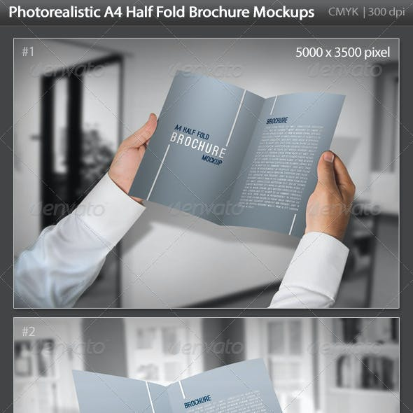A4 Fold Mockup