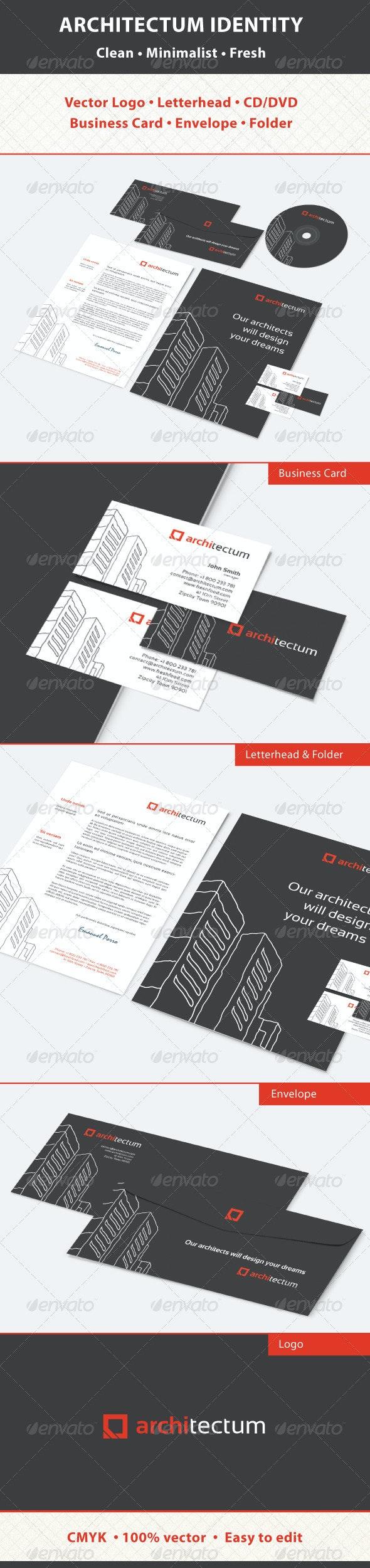 Architectum Identity - Stationery Print Templates