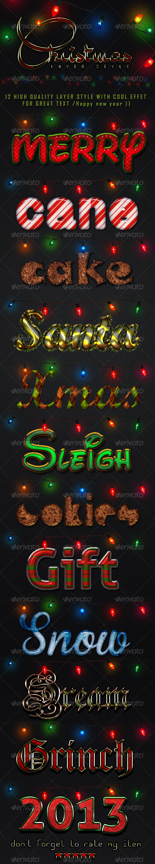 Christmas [Styles] - Text Effects Styles