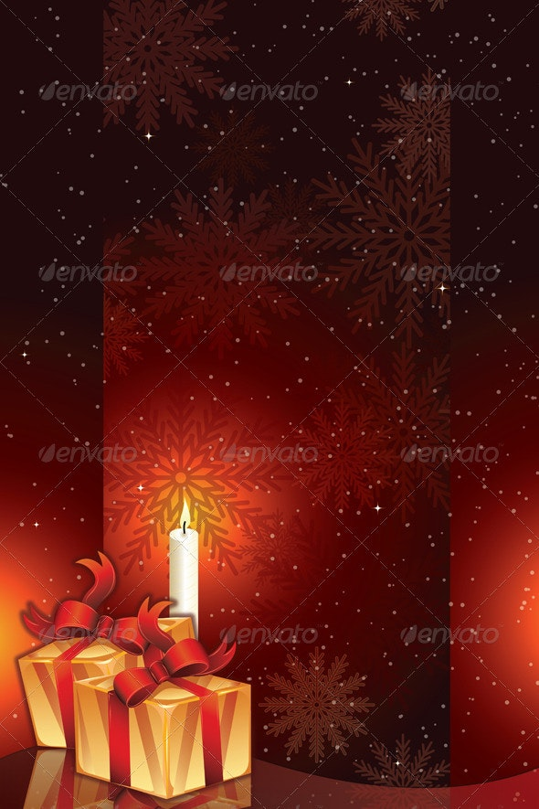 Gift packages with candle light - Christmas Seasons/Holidays
