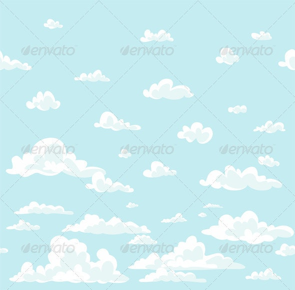 Clouds Background - Decorative Vectors
