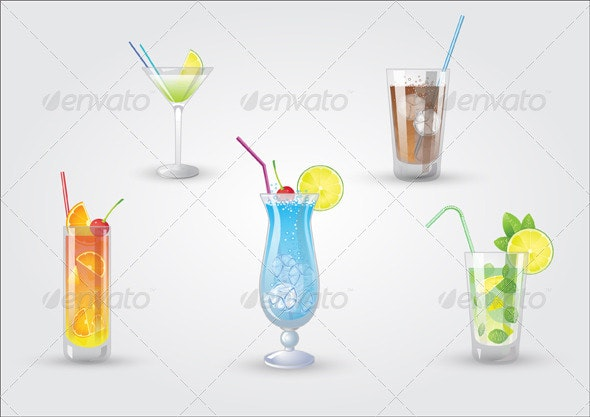 Fresh Cocktails - Food Objects