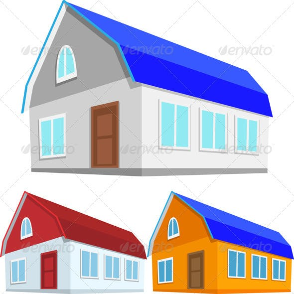 Vector Set of Colored Houses