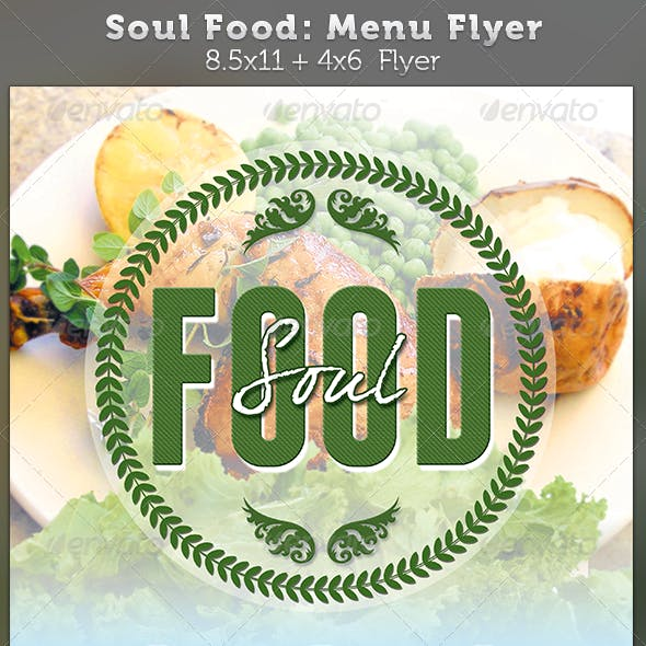 Soul Food Menu Flyer Template