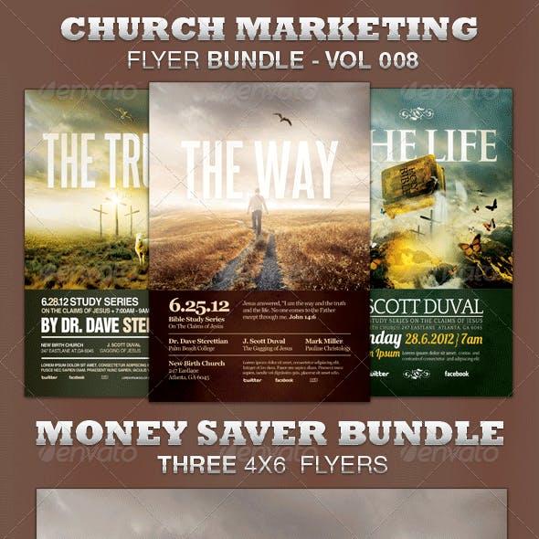Church Marketing Flyer Bundle-Vol 008