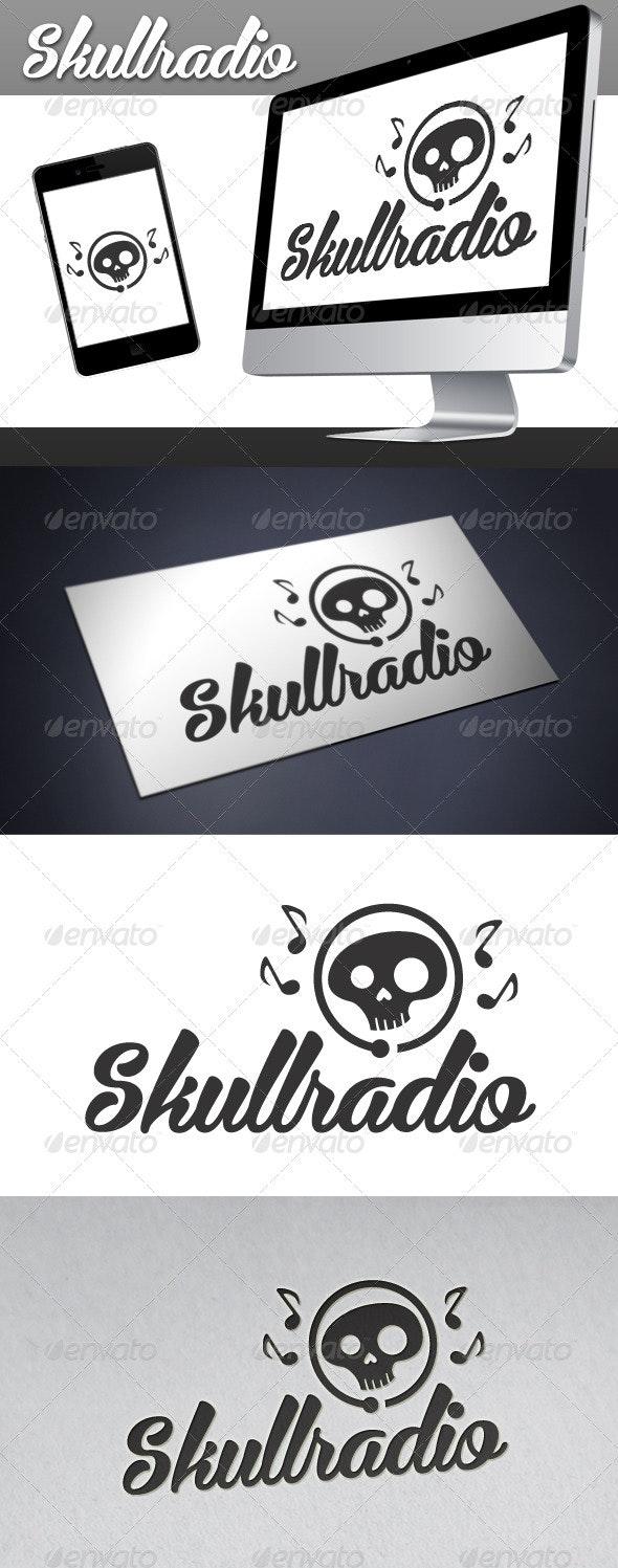 Skull Radio Logo - Objects Logo Templates