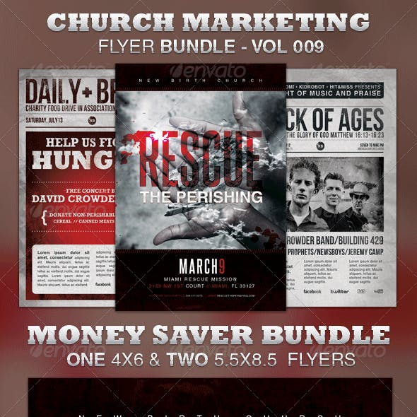Church Marketing Flyer Bundle-Vol 009