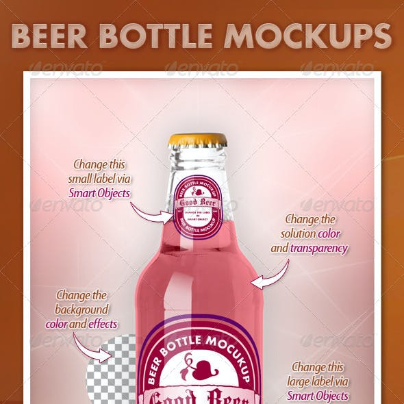 Beer Bottle Mockups V1.0