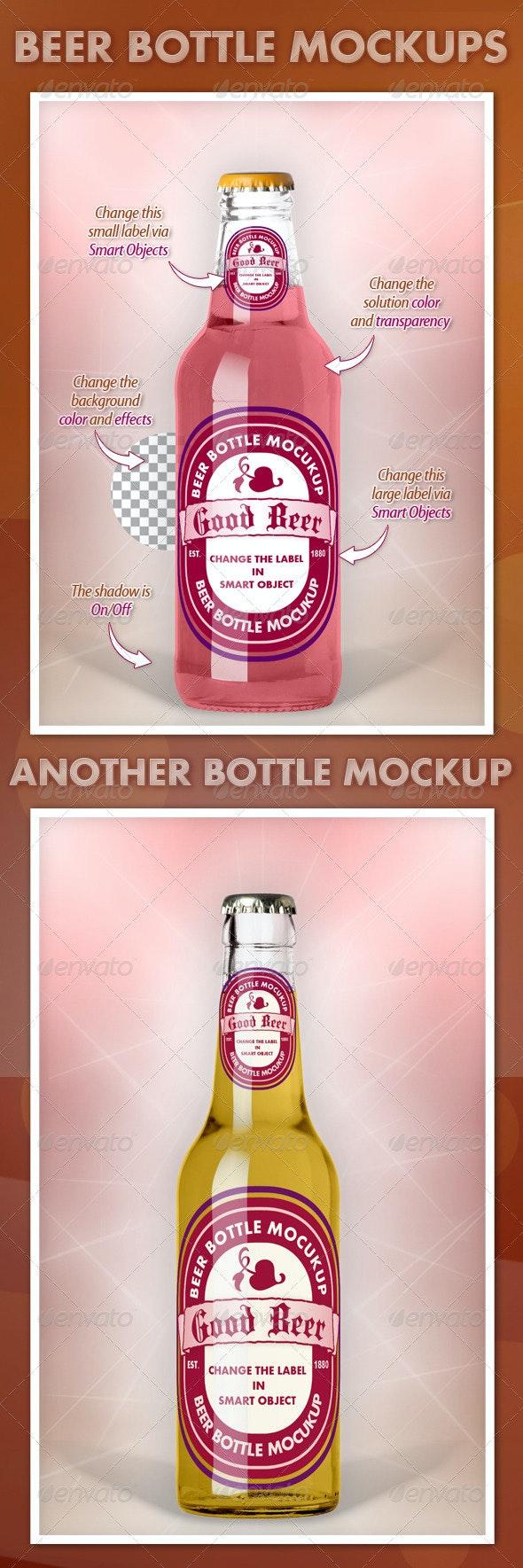 Beer Bottle Mockups V1.0 - Food and Drink Packaging