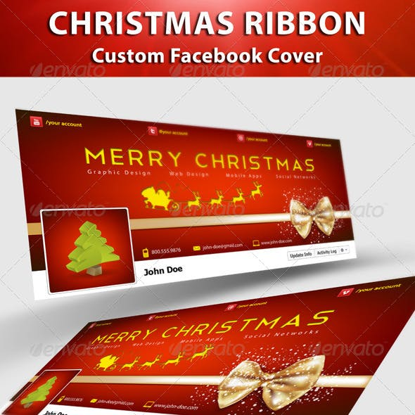 Christmas Ribbon FB Cover