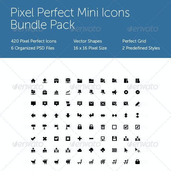 Pixel Perfect Mini Icons Bundle Pack