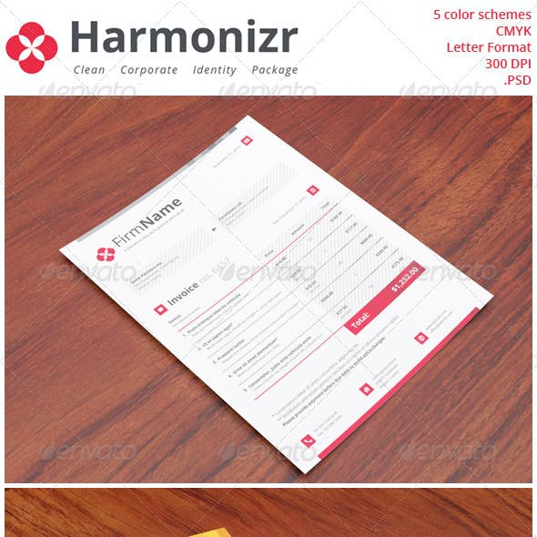 Harmonizr Clean Corporate Identity Package