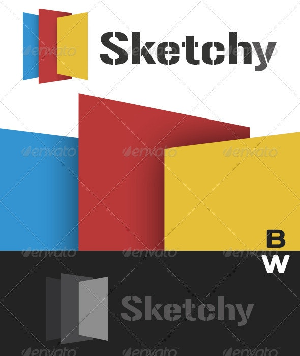 Sketchy Logo ready for Print and Website - Abstract Logo Templates