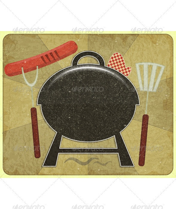 Barbecue Menu - Food Objects
