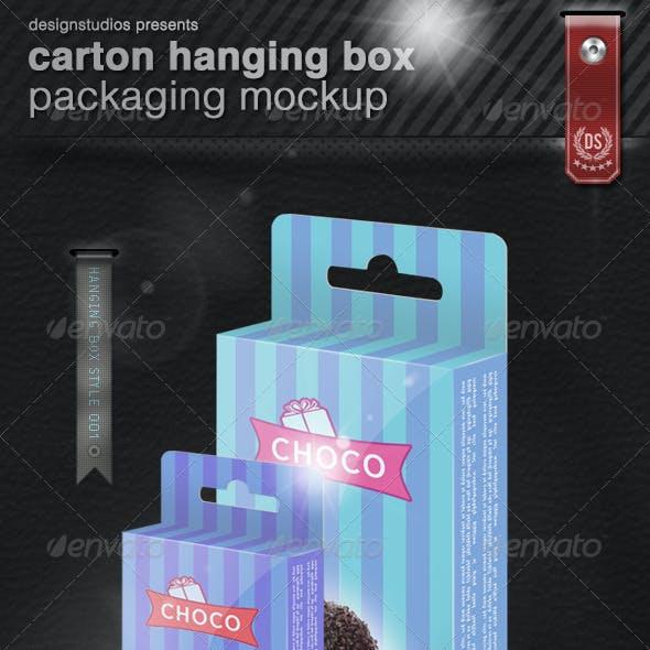 Carton Hanging Box Packaging Mock-Up