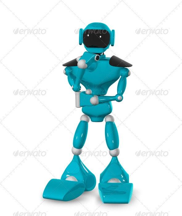 Pensive Robot - Objects 3D Renders