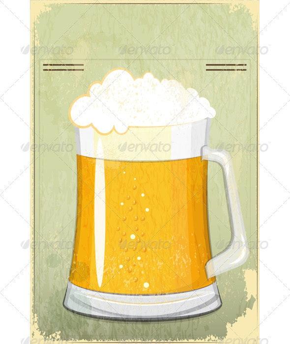 Retro Design Beer Menu - Food Objects