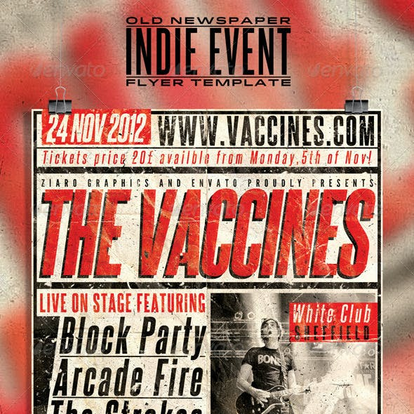Old Newspaper Indie Event Poster/Flyer