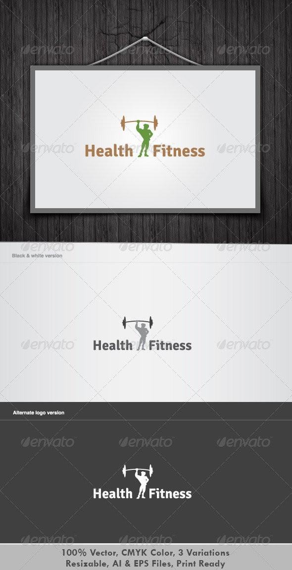 Health & Fitness - Objects Logo Templates