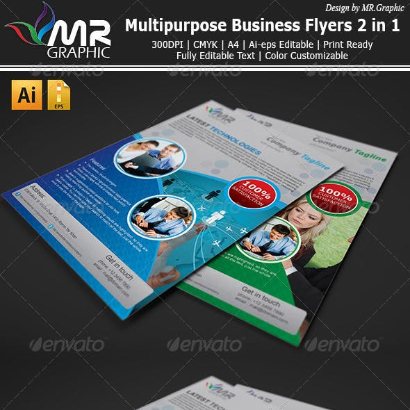 MultiPurpose Business Flyers Ads