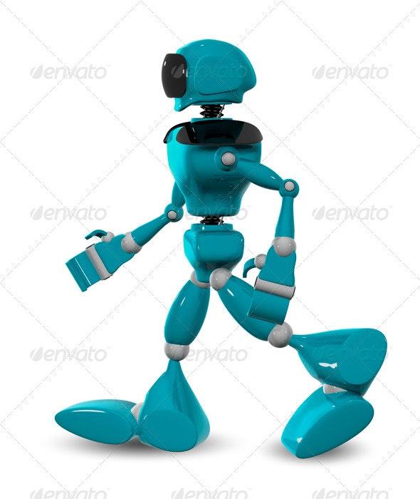 walking robot - 3D Backgrounds
