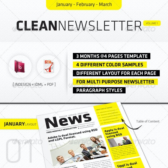 January - March Clean Newsletter V1