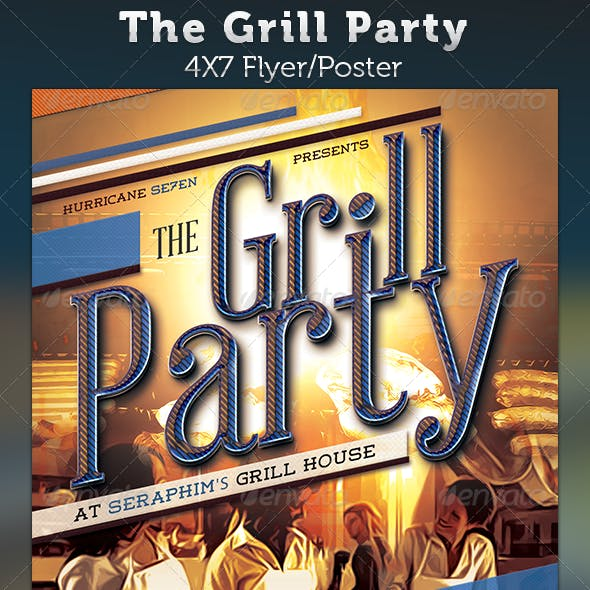 The Grill Party: Restaurant Charity Flyer Template