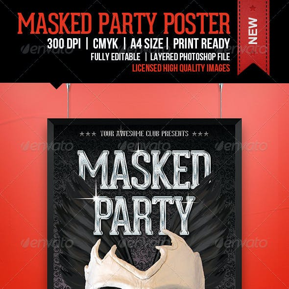 Masked Party Poster