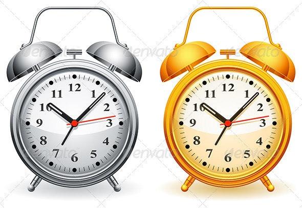 Alarm Clock - Objects Vectors