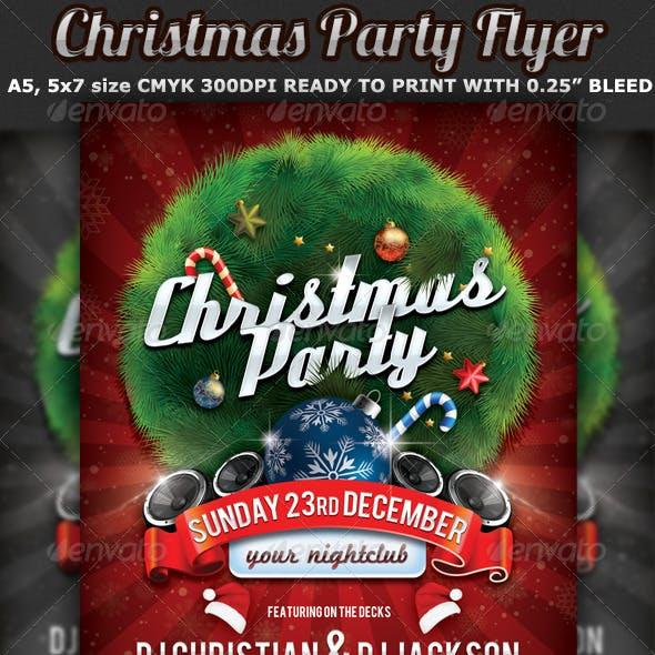 Christmas Party Flyer Celebration Template