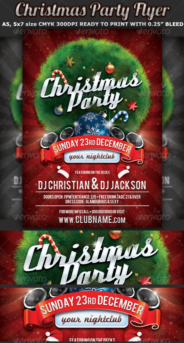 Christmas Party Flyer.Christmas Party Flyer Celebration Template