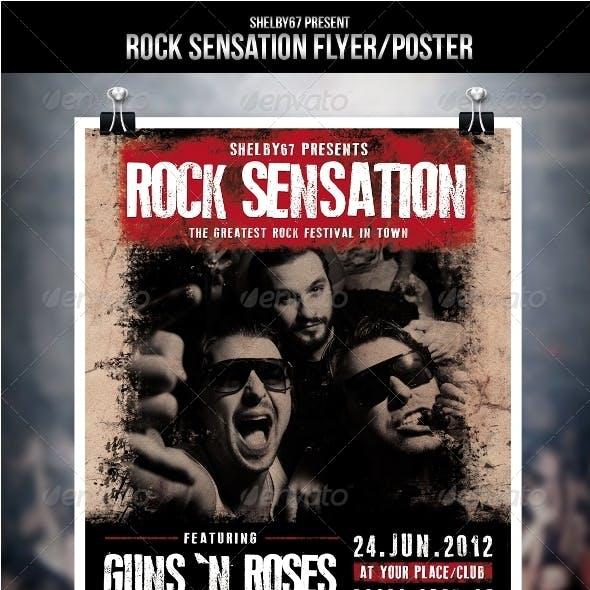 Rock Sensation Flyer / Poster