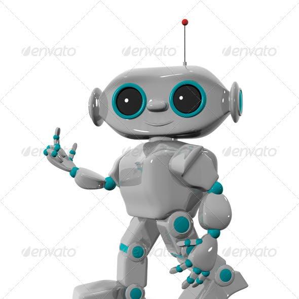 Walking Cheerful Robot