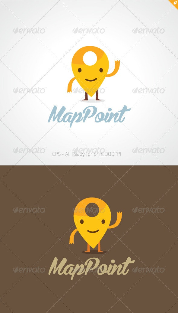 Map Point Logo - Humans Logo Templates