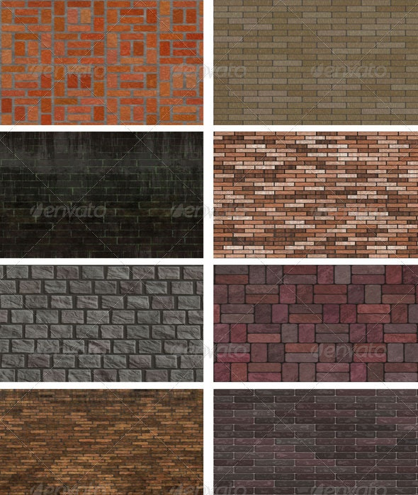 8 Brick Wall Backgrounds - Patterns Backgrounds