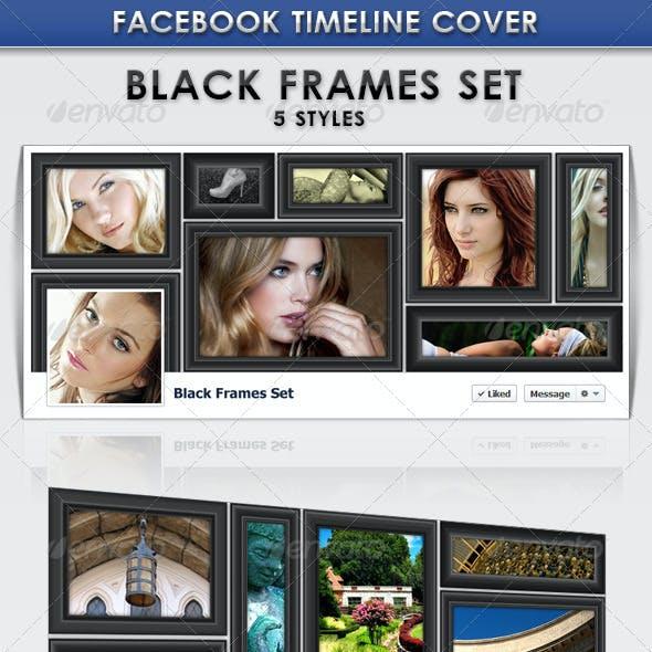 FB Cover Design Template - Black Frames